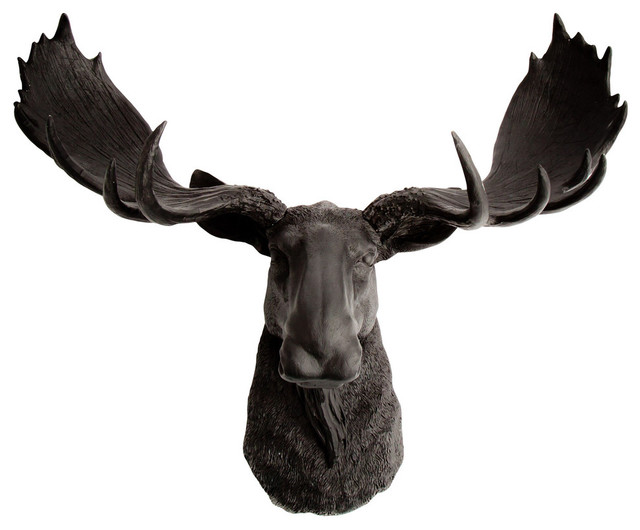 Faux Moose Head Wall Mount Contemporary Wall