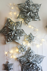 DIY Silver Stars for a Glittering New Year's Eve