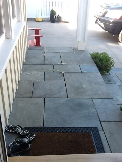 Pennsylvania bluestone what color joint filler should we do for Bluestone porch