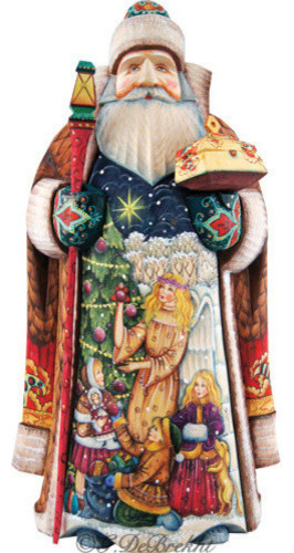 Holy Tree Father Frost Santa Woodcarved Figurine Holiday Accents And Figurines By G Debrekht