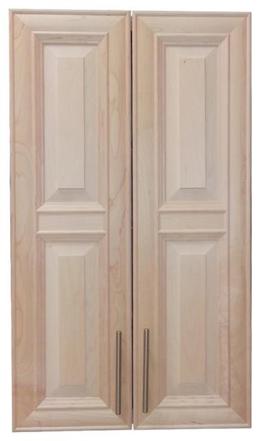 "Edison 38"" 2-Door Recessed Frameless Medicine Cabinet, 3.5"", Unfinished."