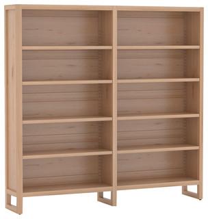 la compagnie du h tre double library selva untreated transitional bookcases by la. Black Bedroom Furniture Sets. Home Design Ideas