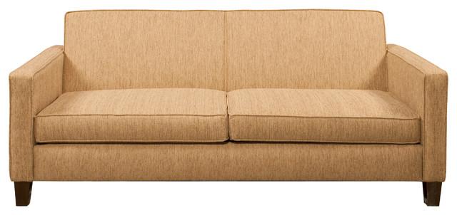 Rupert Full Sleeper Sofa in Socorro Oatmeal Midcentury Sleeper