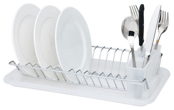 Compact Dish Drainer, Clear.