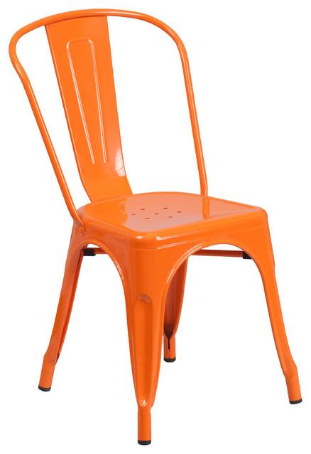 Metal IndoorOutdoor Stackable Chair Contemporary  : contemporary outdoor dining chairs from www.houzz.com size 438 x 640 jpeg 49kB