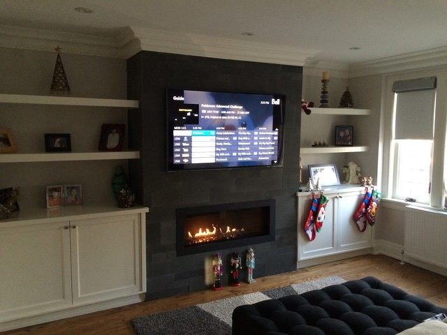 Astounding Leaside Small Room Big Tv Traditional Toronto By Home Interior And Landscaping Ologienasavecom