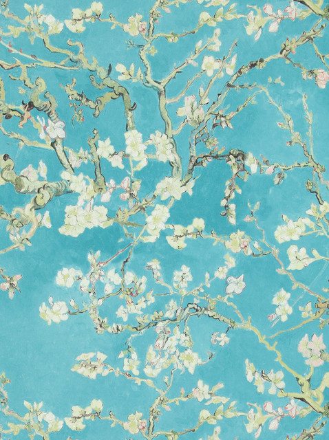 Non-Woven Floral Wallpaper For Accent Wall 17140 Van Gogh Wallpaper, Roll. -1