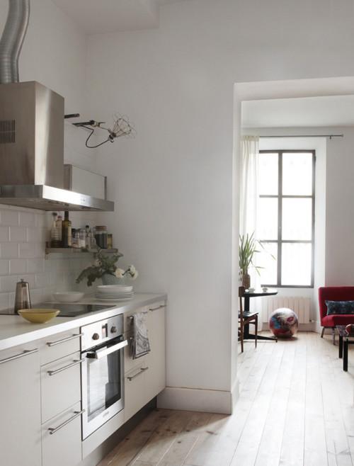 Dise o las paredes de la cocina con o sin azulejos - Paredes de cocina sin azulejos ...