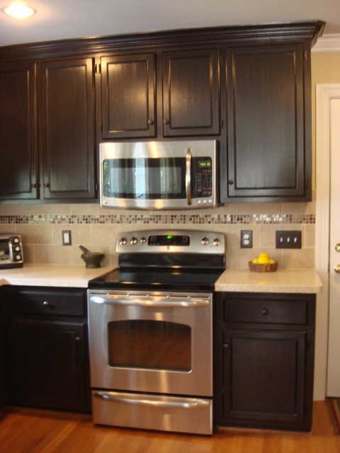 Kitchen Cabinets Ideas faux finishes for kitchen cabinets Faux finished painted and glazed kitchen cabinets - Traditional ...