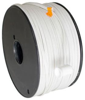 500&x27; White 18ga Spt1 Wire Only Spool, White.