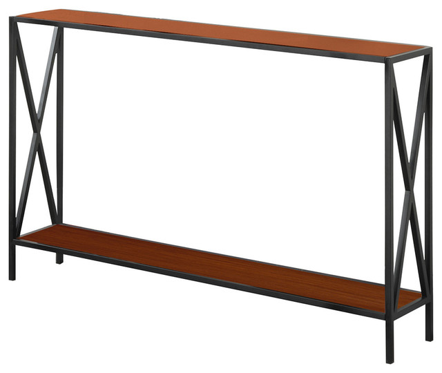 Tucson Console Table Black And Cherry Transitional