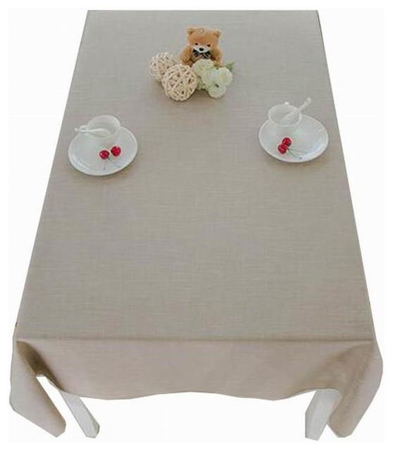 Linen Tablecloth Washable Tablecloth Table Cover Dinner Tablecloth Beige  Contemporary Tablecloths