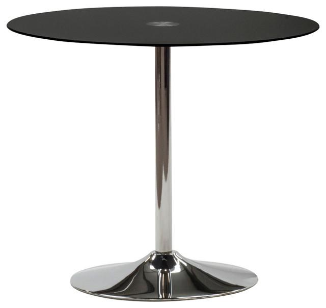 Glass Orbit Dining Table Black Modern Dining Tables