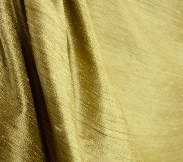 57400 11 Solid Antique Gold Silk Drapery Fabric