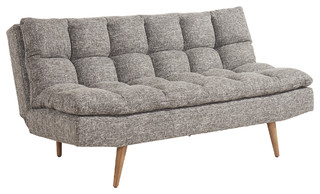 Tufted Convertible Sofabed - Black and White - Midcentury - Sleeper Sofas -  by WHI