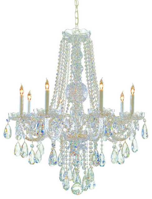 Crystorama lighting crystorama lighting chandelier traditional crystal polished brass view - Traditional crystal chandeliers ...