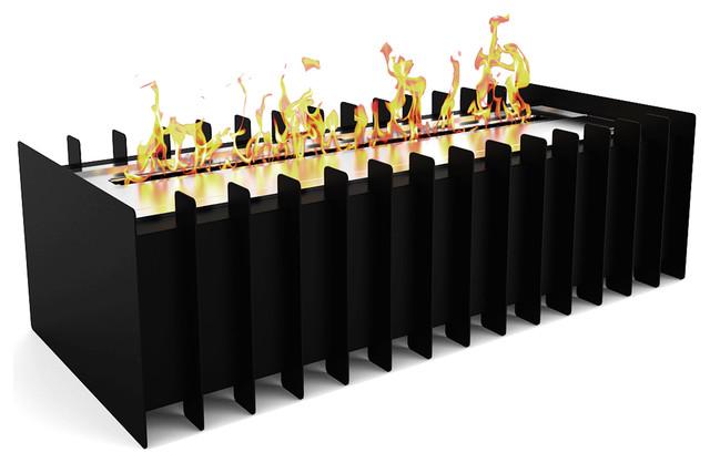 "Regal Pro 18"" Ventless Bio Ethanol Fireplace Grate Burner Insert, 2.6 Liter."