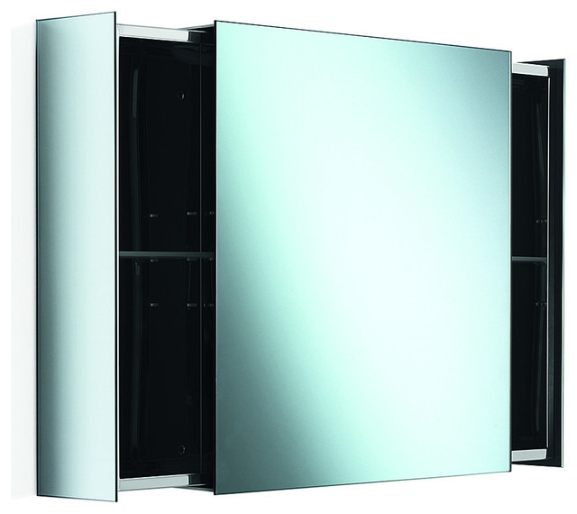 Lb bath collection pika wall mounted medicine cabinet with mirror and sliding drawers 23 6 - Contemporary medicine cabinets in a wall ...
