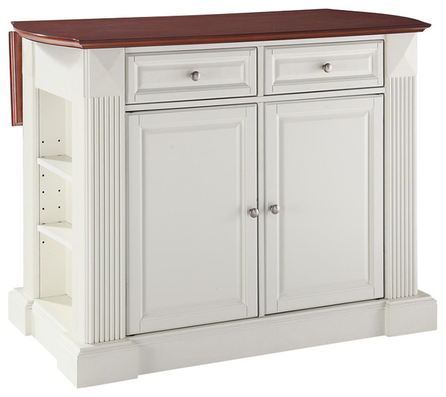 Drop Leaf Breakfast Bar Top Kitchen Island Traditional Kitchen Islands And Kitchen Carts By Bentley Marketing