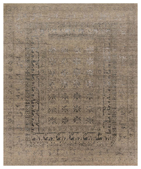 Jumanji Global Bazaar Beige Pewter Kingdom Wool Rug