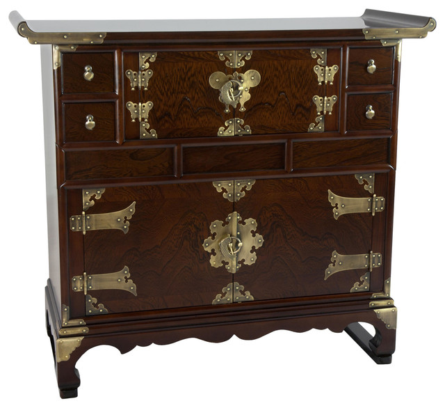 Oriental furniture korean double cabinet design scholar for South asian furniture