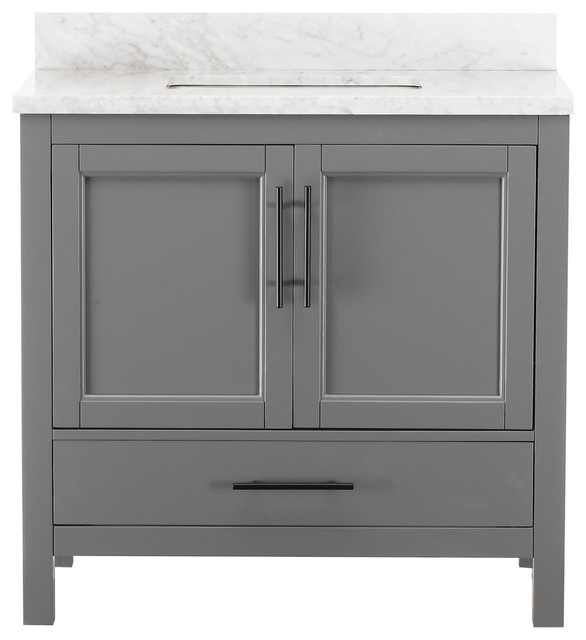 Houzz Kendall Gray Bathroom Vanity
