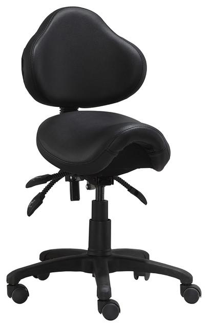 Ergonomic Task Mid Back Saddle Seat Side Office Chair