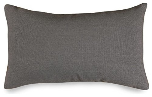 Gray Wales Small Pillow 12x20.