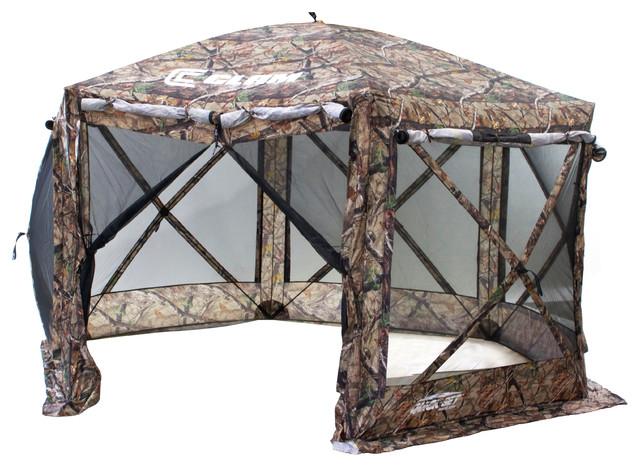 Pavilion Screen Shelter 6 side DLX - Camo/Black Mesh rustic-gazebos  sc 1 st  Houzz & Clam Outdoors - Pavilion Screen Shelter 6 side DLX - Camo/Black ...