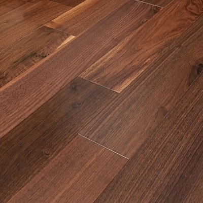 American Walnut Select Prefinished Engineered Wood Flooring, Sample.