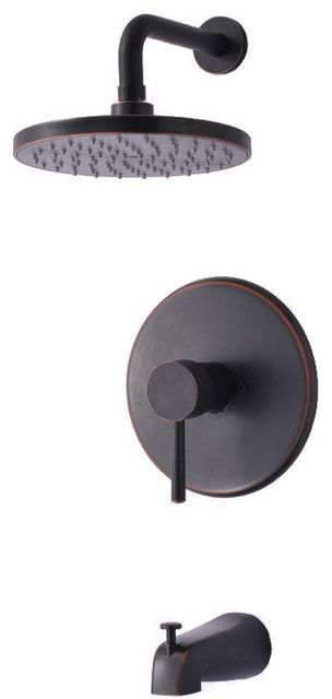 Hardware House 13-5474 Oil Rubbed Bronze Tub / Shower Combo Faucet.