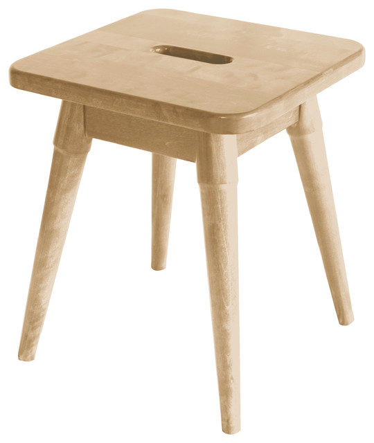 Arendal Solid Wood Square Stool Blonde