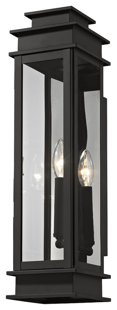 Princeton 1-Light Wall Lantern, Black.