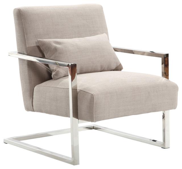 Gentil Skyline Modern Accent Chair, Gray