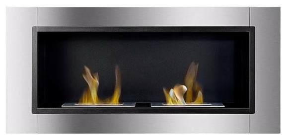 Ignis Lata, Built-In/wall Mounted Fireplace, Without Glass Barrier.