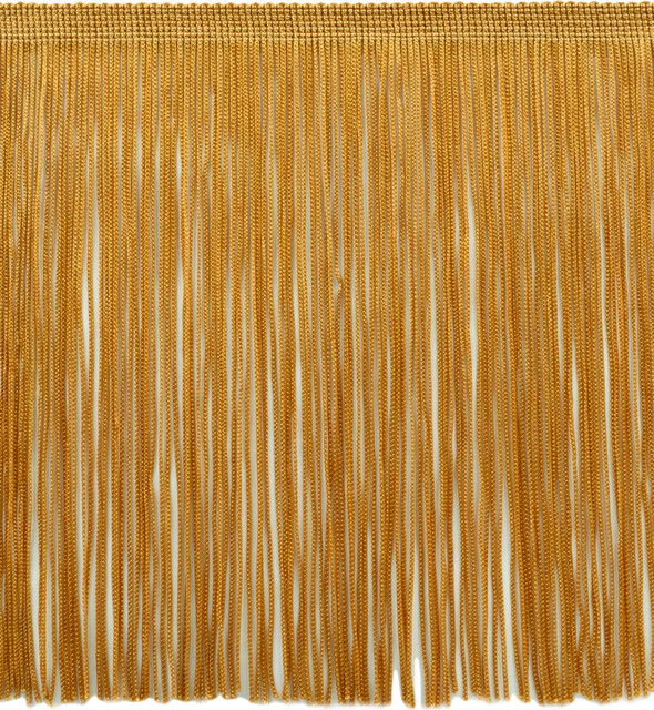 "11 Yards Flag Gold 6/"" Chainette Fringe Trim Butterscotch Brook"