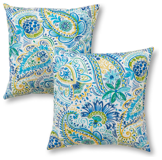 Outdoor Accent Pillows Set Of Two Mediterranean Outdoor