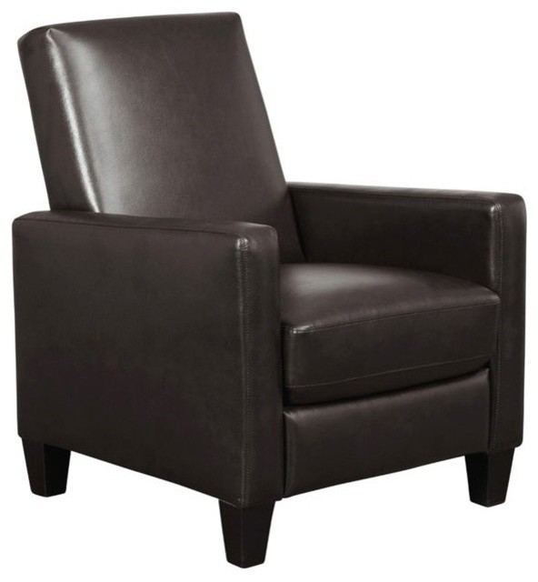 Awesome Abbyson Living Tessa Pushback Bonded Leather Recliner Brown Onthecornerstone Fun Painted Chair Ideas Images Onthecornerstoneorg