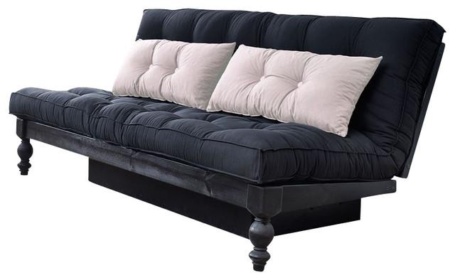 Karup Design Rocko Sofabed, Natural, Black Cushion