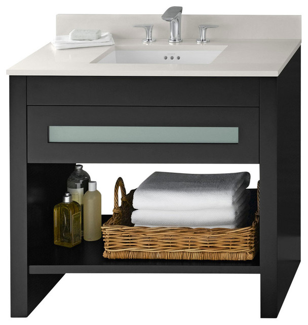 Ronbow Kendra Solid Wood 36 Vanity Set With Ceramic Sink