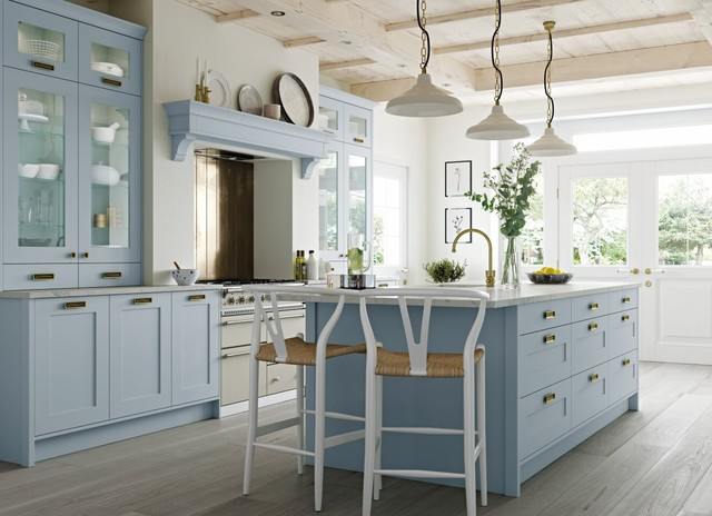 Baby Blue Country Style Kitchen - Surrey - by Bespoke ...
