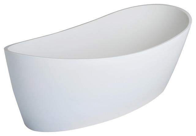 Dune Freestanding Soaker Tub, Satin White.