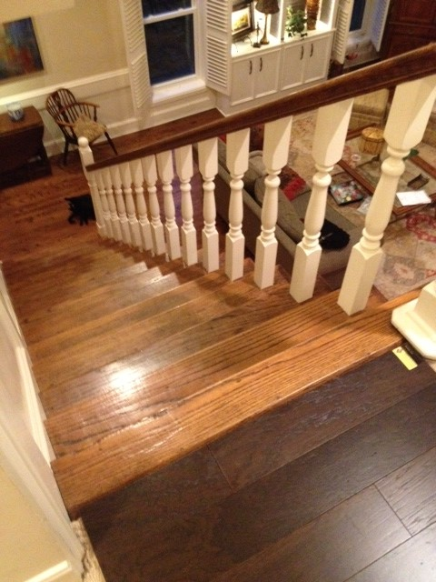 Is it wrong to have different wooden flooring upstairs for Hardwood floors upstairs