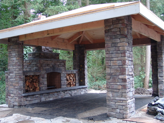 Outdoor Fireplace Portland By Brown Bros Masonry
