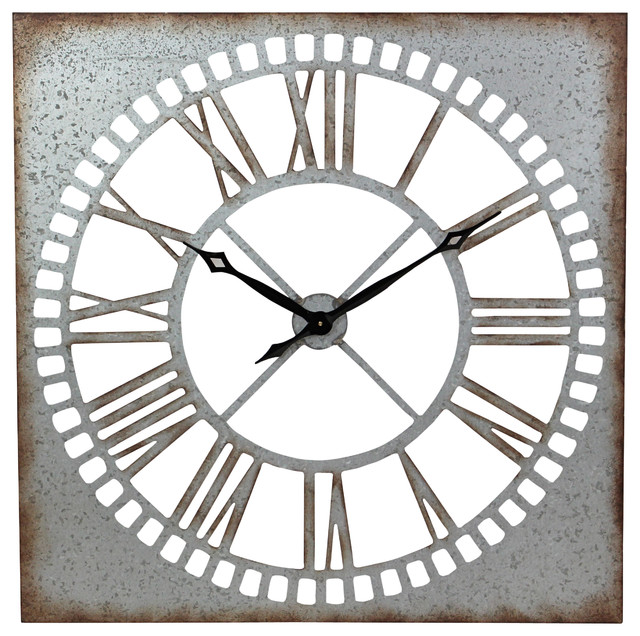 Aspire Home Accents Ashbury Square Metal Wall Clock