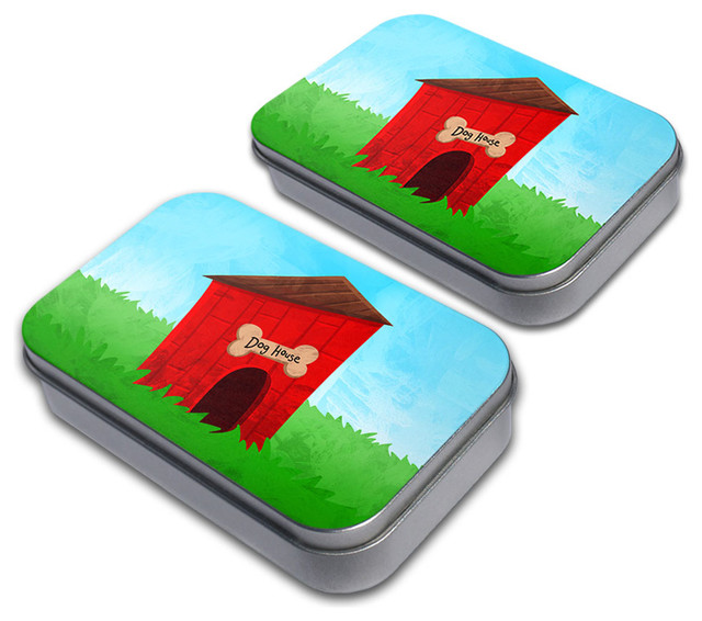 Dog House Tin Set