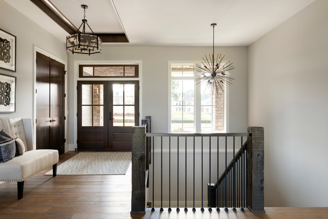 Inspiration for a rustic home design remodel in Minneapolis