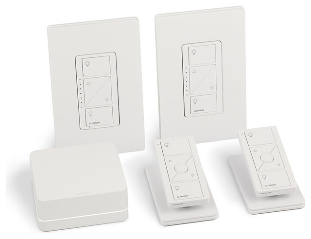 lutron caseta wireless smart lighting in wall dimmer kit with homekit eclectic by. Black Bedroom Furniture Sets. Home Design Ideas