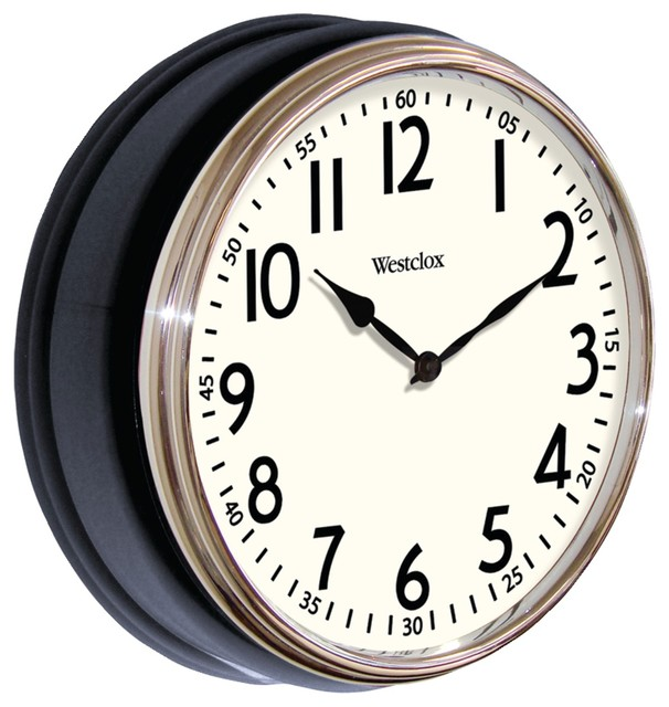 12 Black Deep Wall Clock Transitional Clocks
