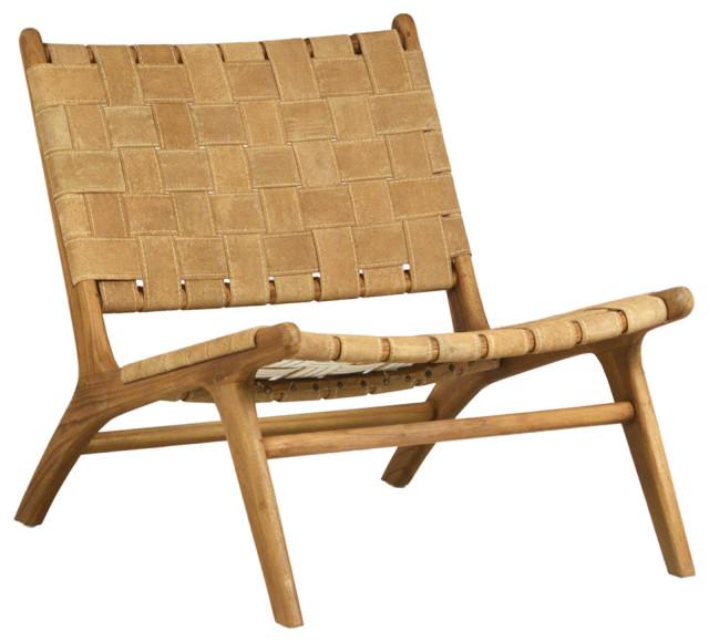 Suede Basket Strap Chair